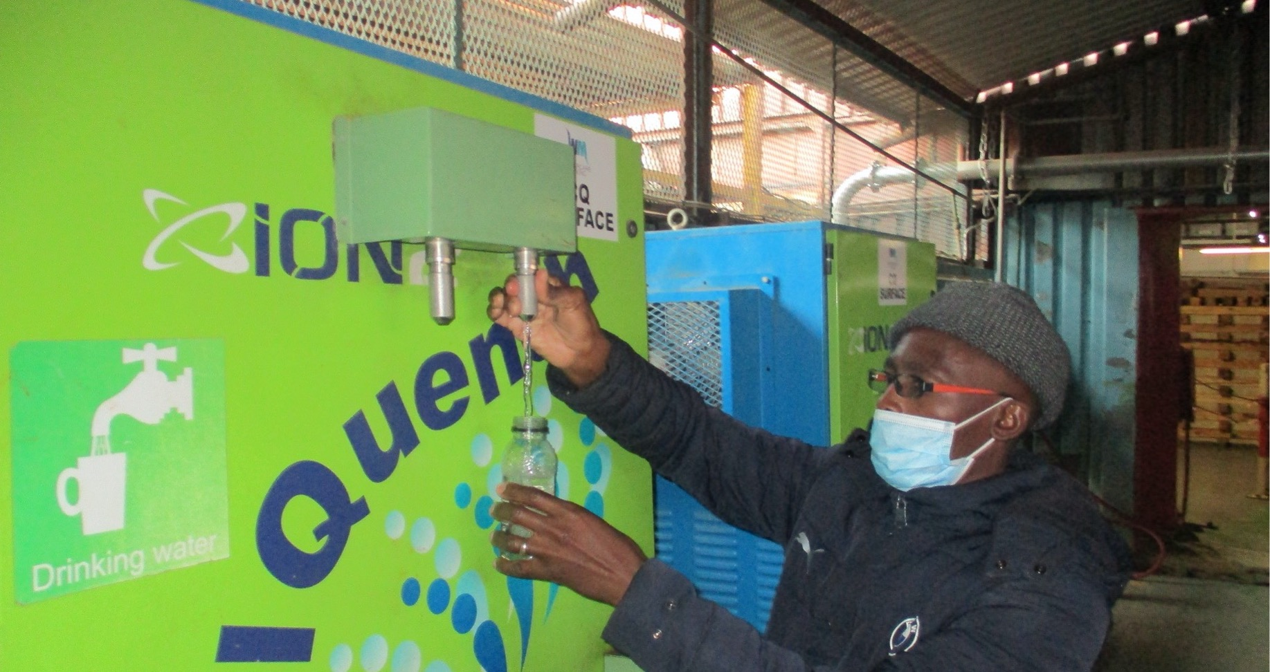 CoolQuench potable water station