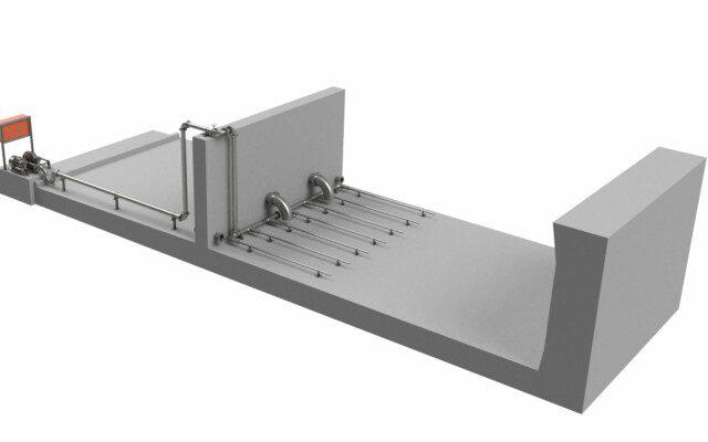 Dam agitation equipment improves water efficiency at mining operations