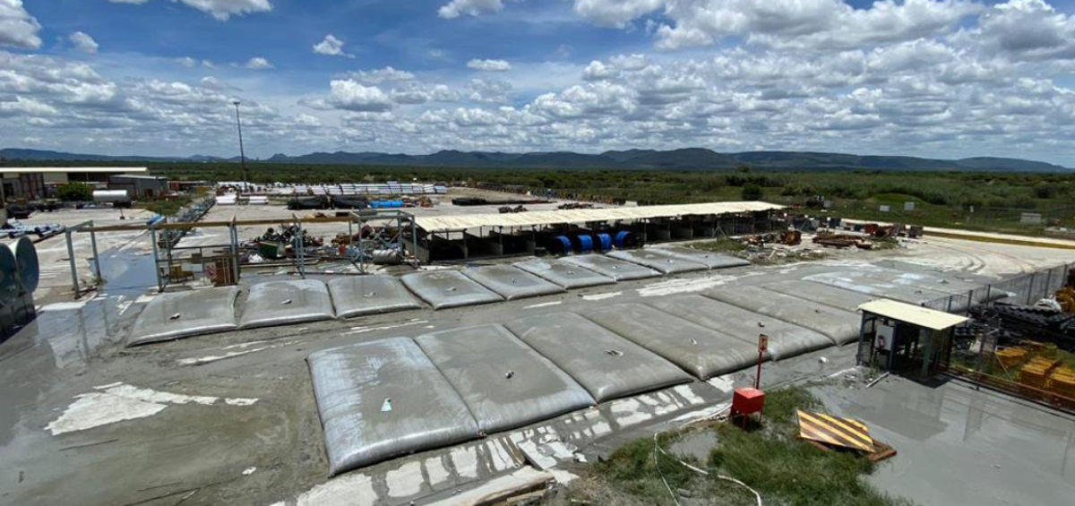 Mine water management may require the use of dewatering ZebraTube® bags to contain mud slurry removed from the mine dam